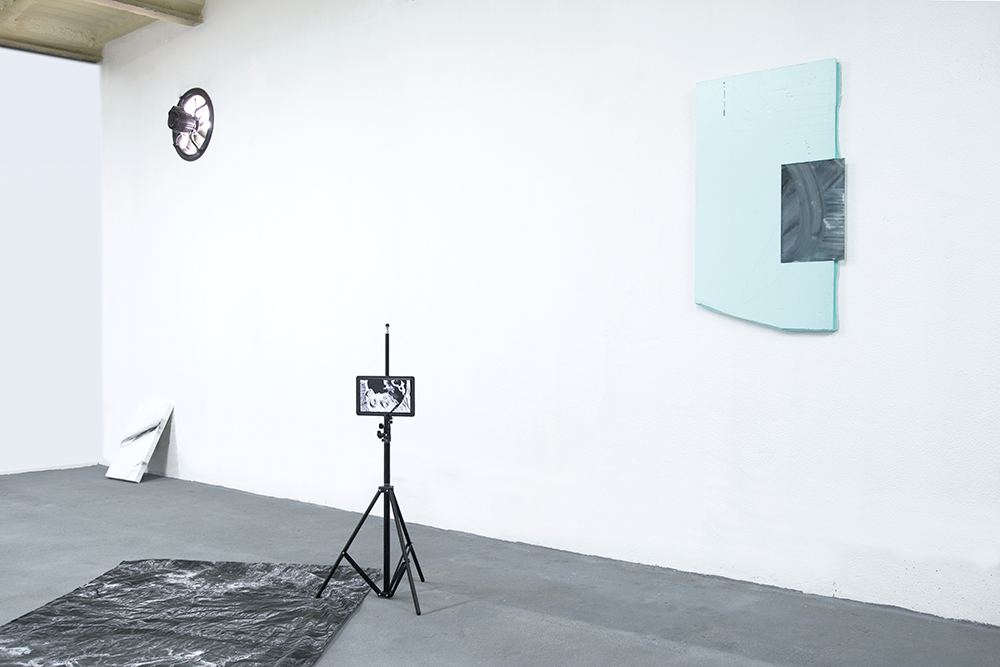 This Beach sucks, Doesn't Have WiFi  2017, Installation View From Left to Right: Paulo Arraiano, Michael Bennett