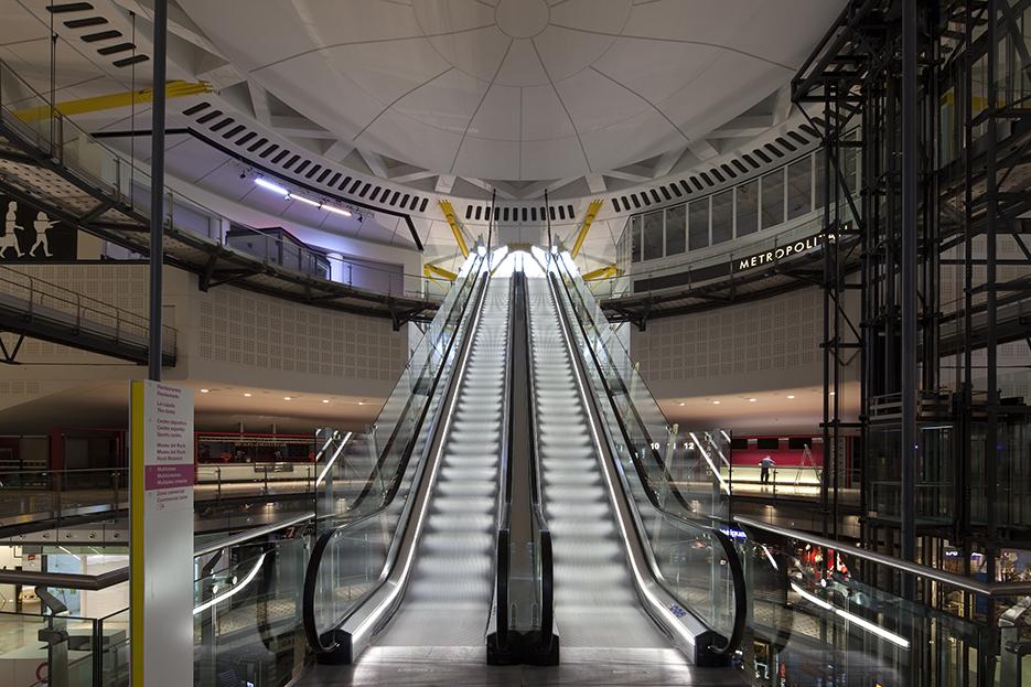 Interior escalators
