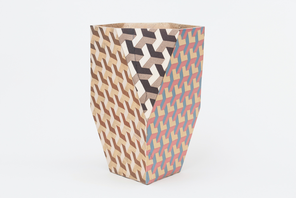 """ALL ARTWORK: CODY HOYT, COURTESY OF CLEMENS KOIS AND PATRICK PARRISH GALLERY. STRETCHED & TRUNCATED TETRAHEDRON, 2015. CERAMIC, 22 X 16 X 16""""."""