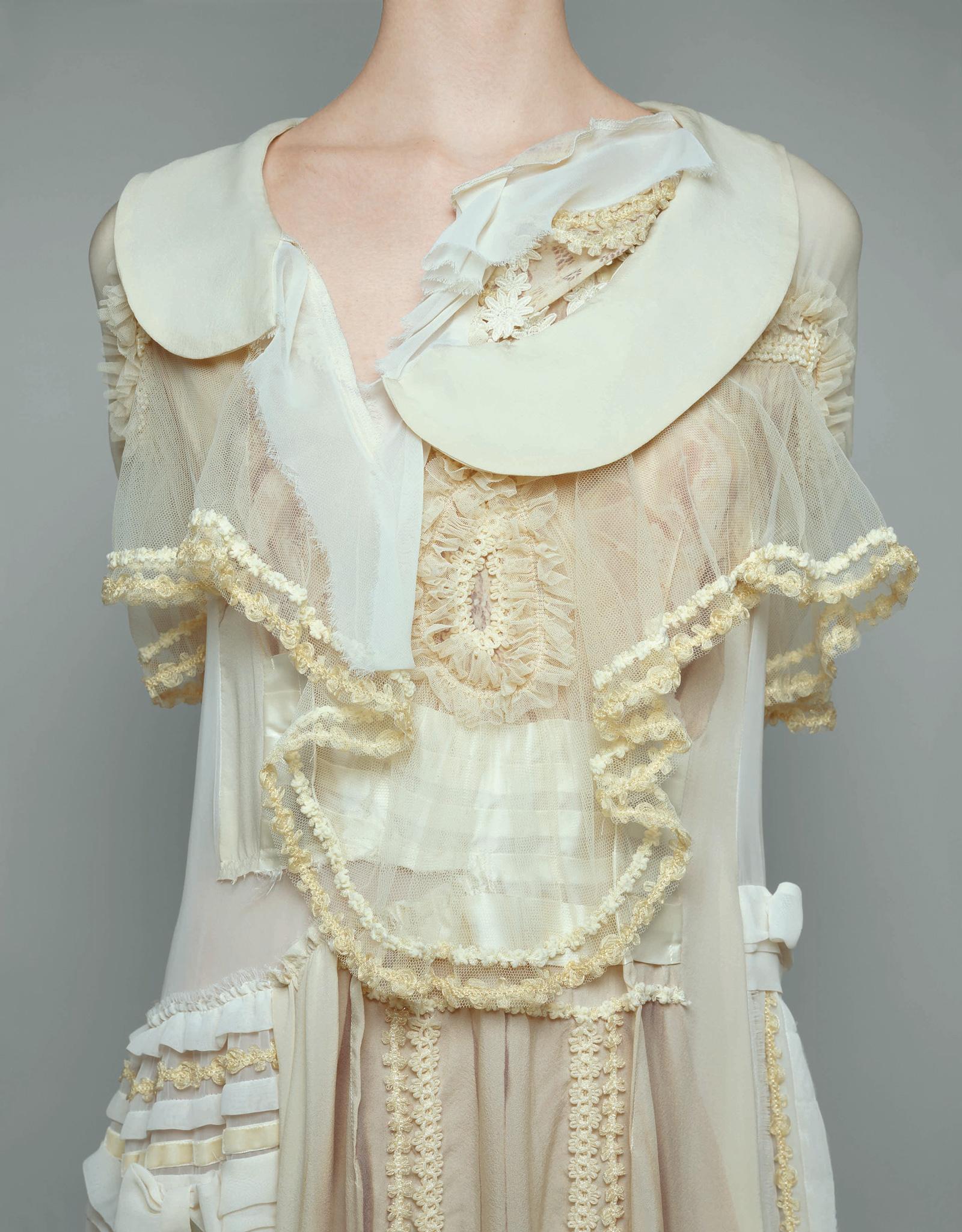 "Brigitte Niedermair/Comme des Garçons/The Metropolitan Museum of Art Publicity photo for Kawakubo's ""Broken Bride"" collection, autumn/winter 2005–2006"
