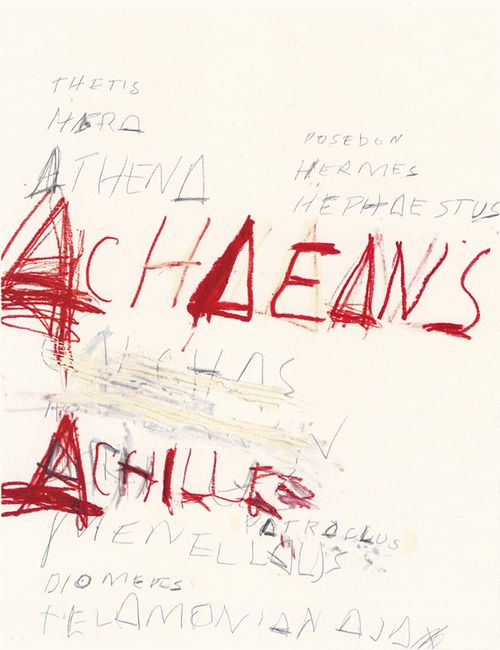 Fifty Days at Iliam. Heroes of the Achaeans, Cy Twombly. 1978