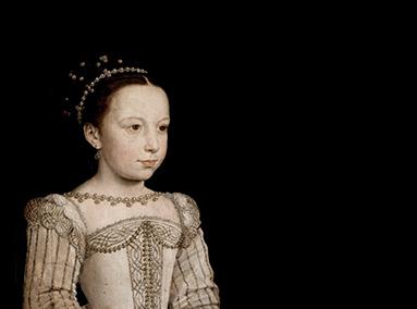 François Clouet, The young Margaret of Valois, c. 1560