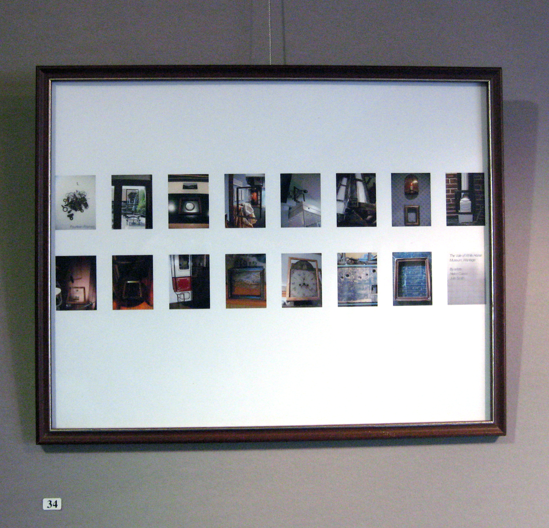 Fourteen Frames, in museum, framed