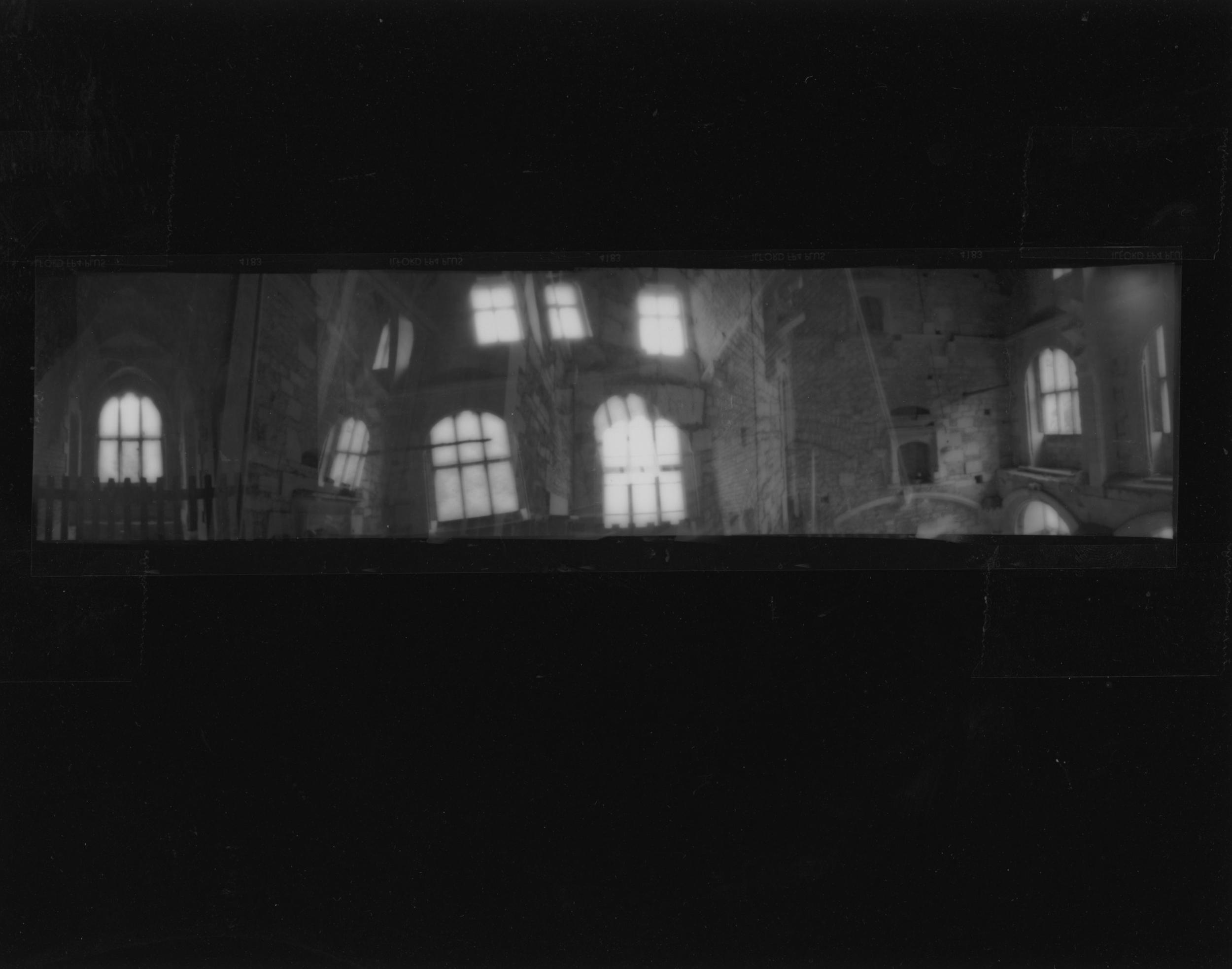 windows around the walls, woodchester mansion