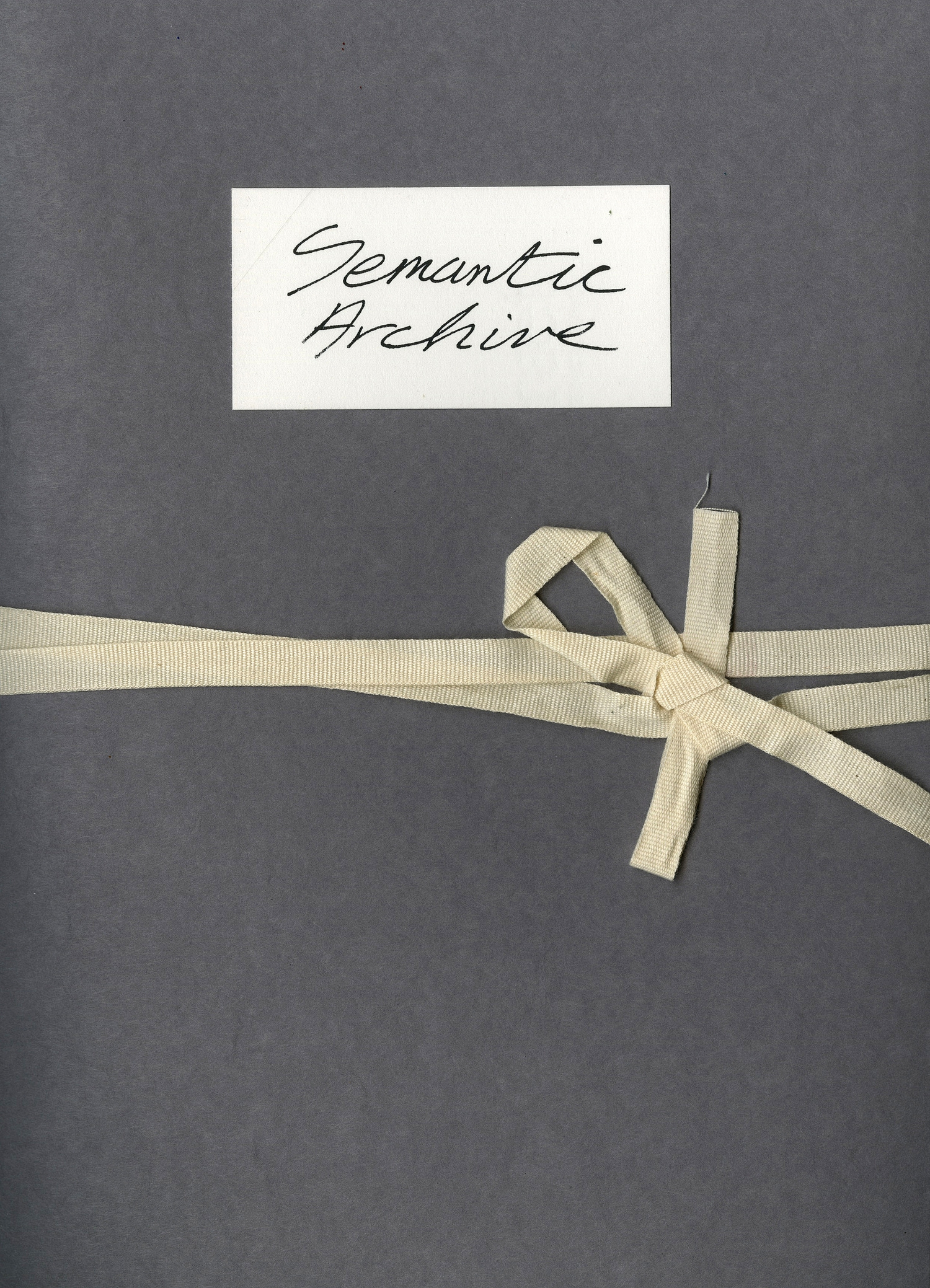 semantic archive, artists' book