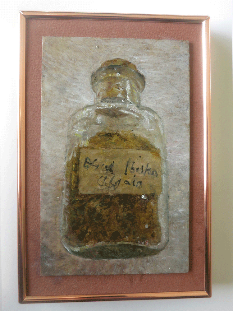 unwrapped, geology find, bottle