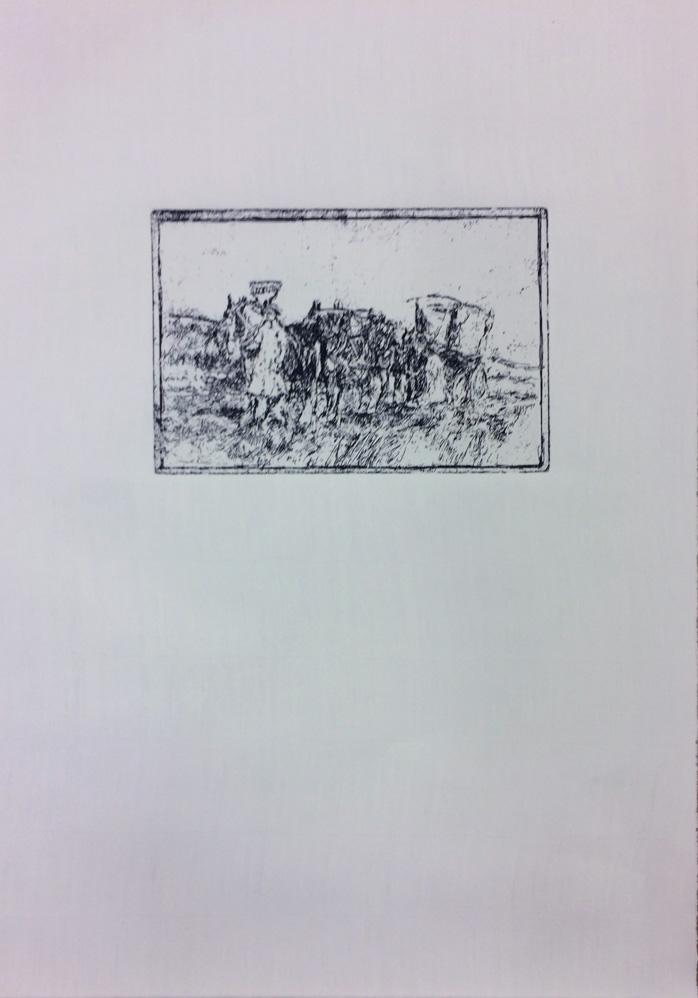 ARTeology project/exhibition, a team, horses, horsebells
