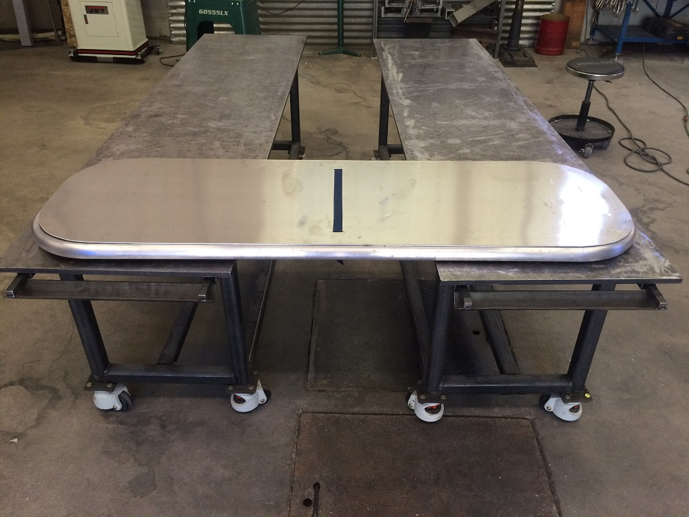 Trailer frame and table