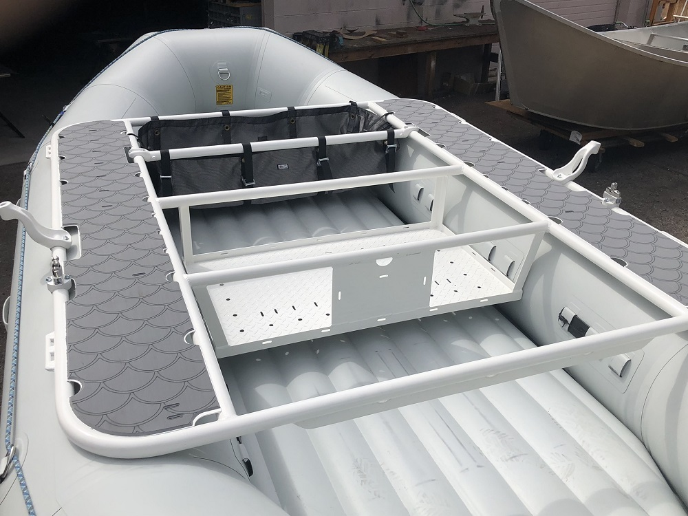 SeaDek side decks on frame on NRS E-160