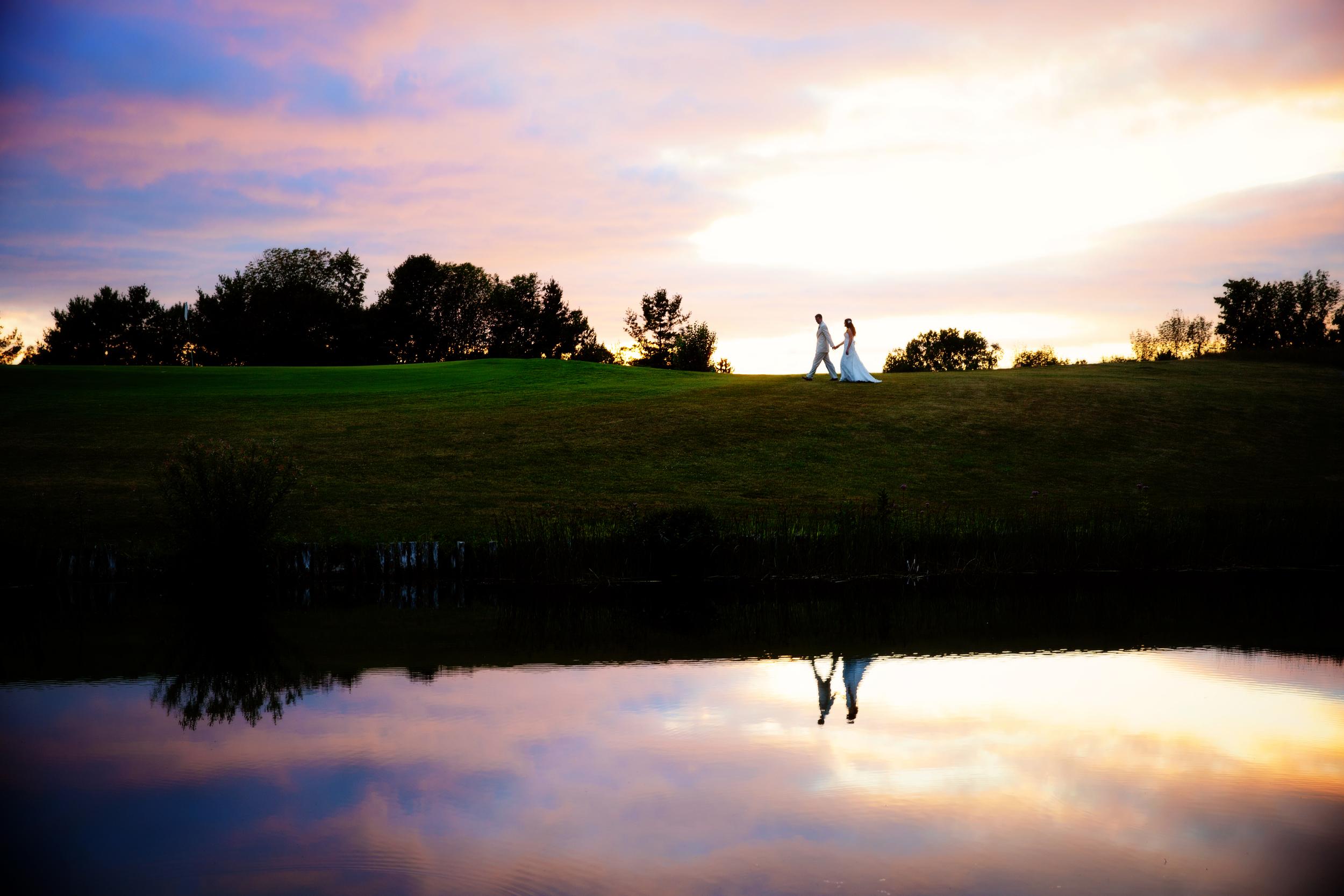 Bride and Groom at Crystal Lake Golf Course | Rayan Anastor Photography | Beulah Wedding Photographer.jpg
