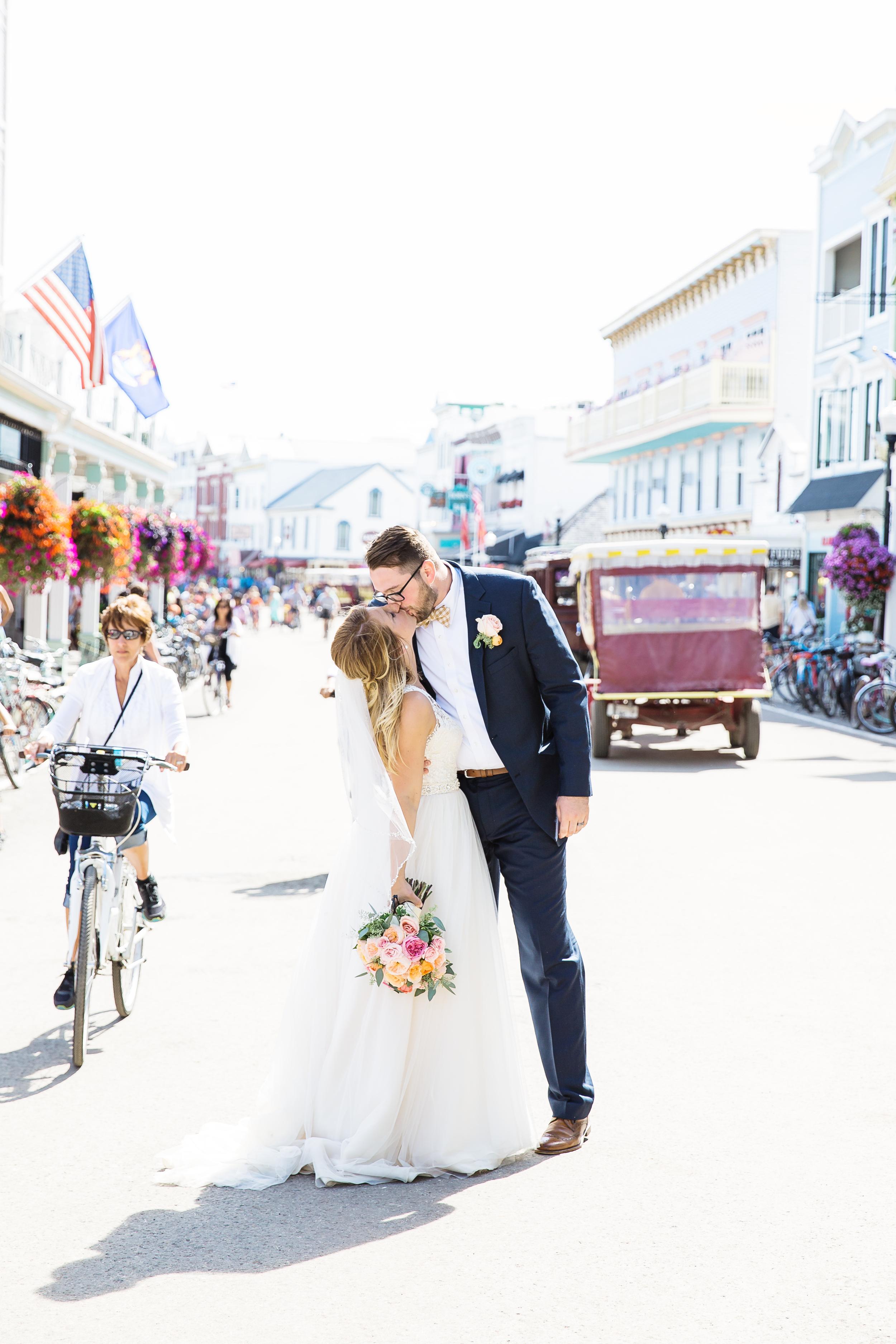 Bride and Groom on Mackinac Island | Rayan Anastor Photography | Mackinac Island Photographer.jpg
