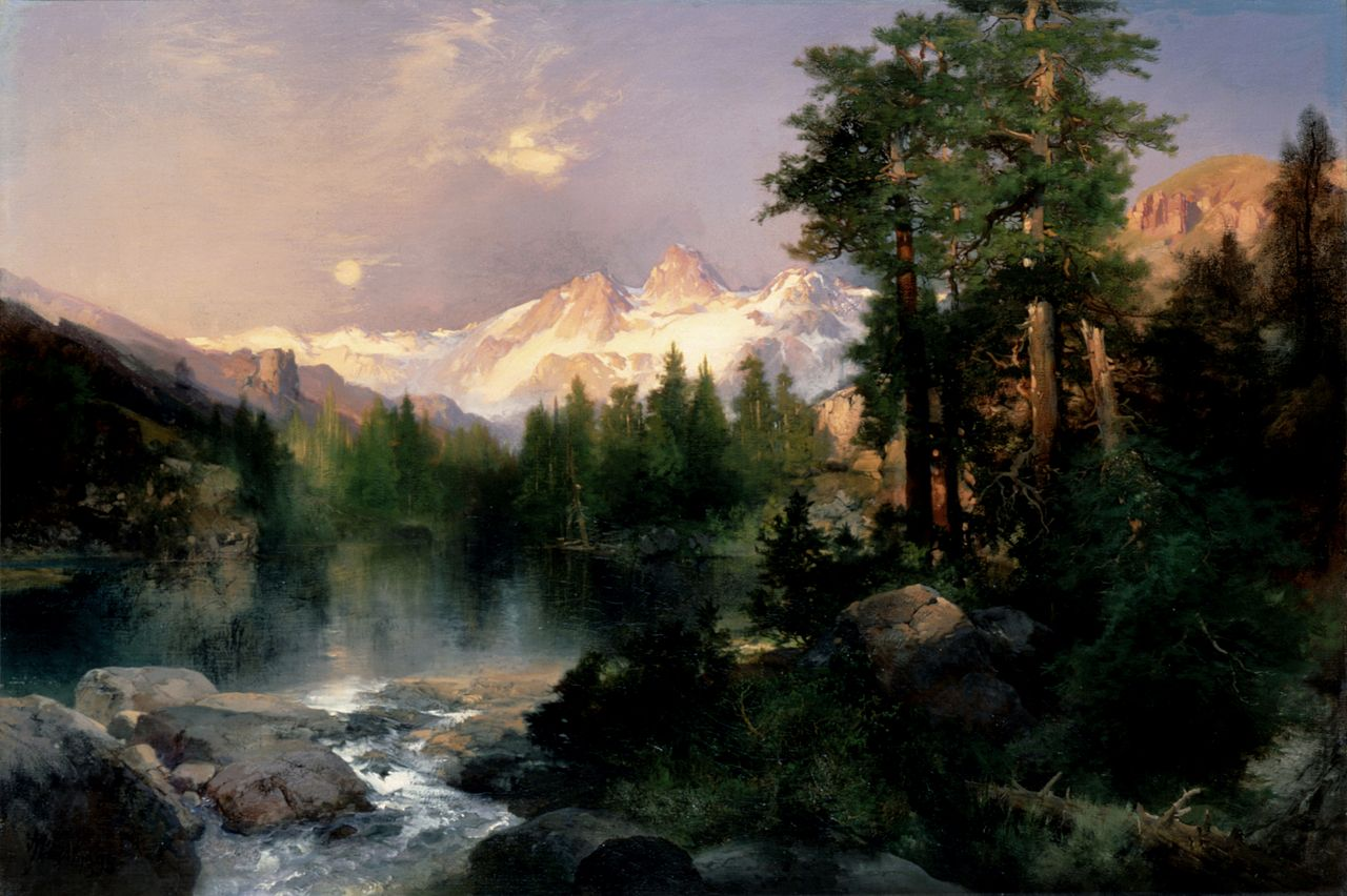 The Three Tetons, oil on canvas, by Thomas Moran. I am forever inspired by his work, and by the Tetons! Via Wikimedia Commons.