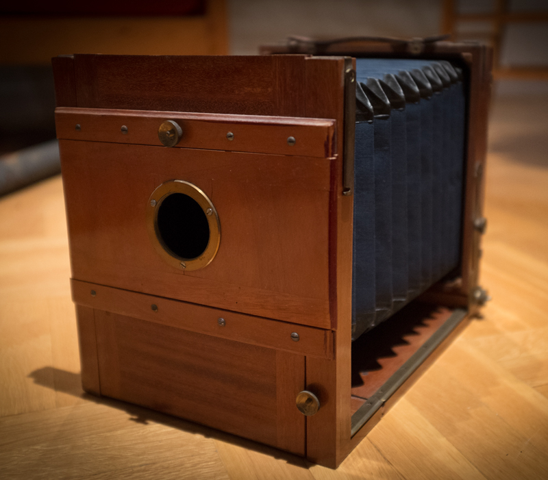The wooden camer chassis