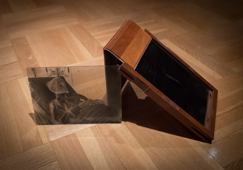 The glass negative and its casing