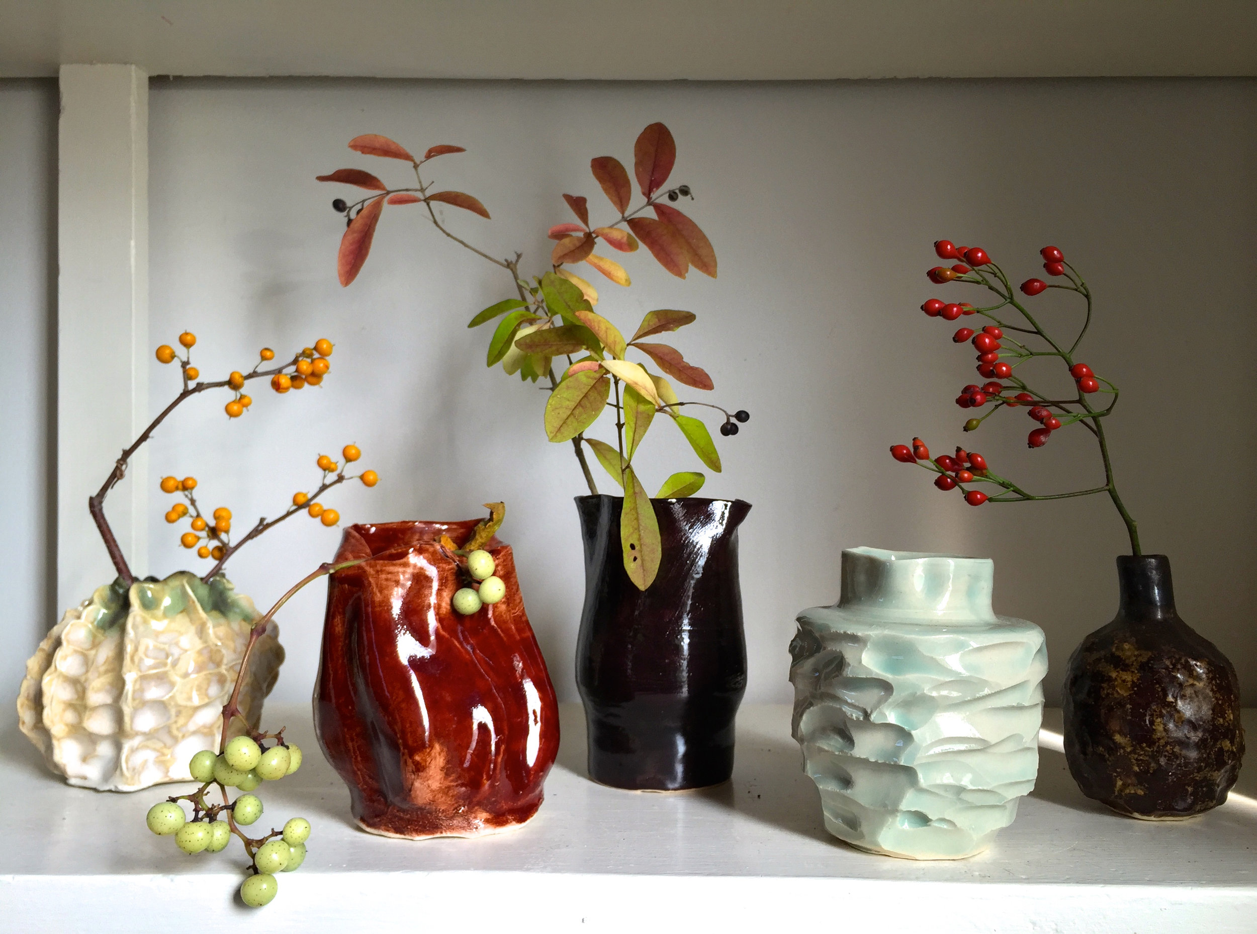 Fall Color and Vases by Annika