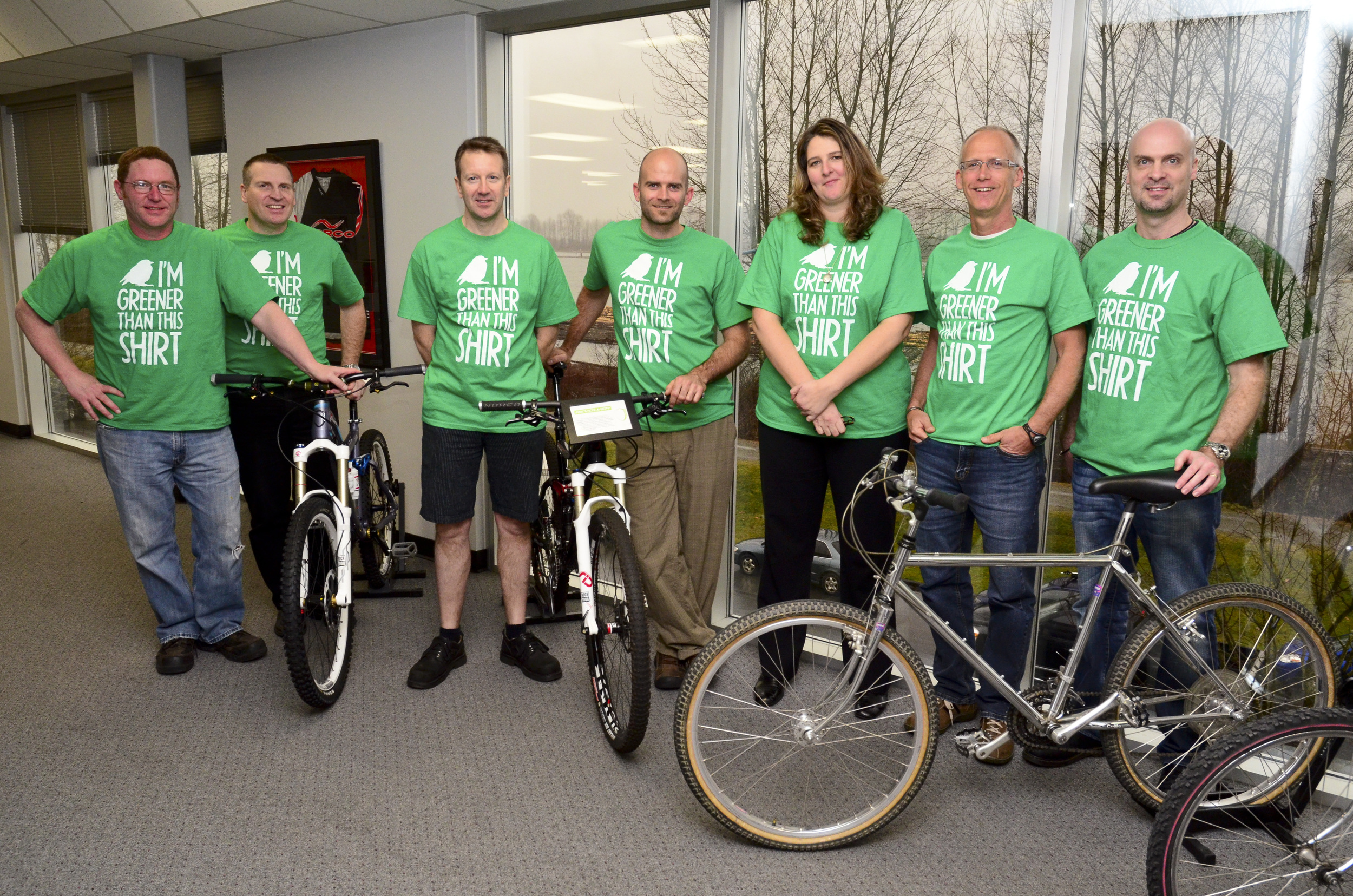 """"""" Norco Green Team """" BY  Norco Bicycles  IS LICENSED UNDER  CC BY-SA 2.0 ."""