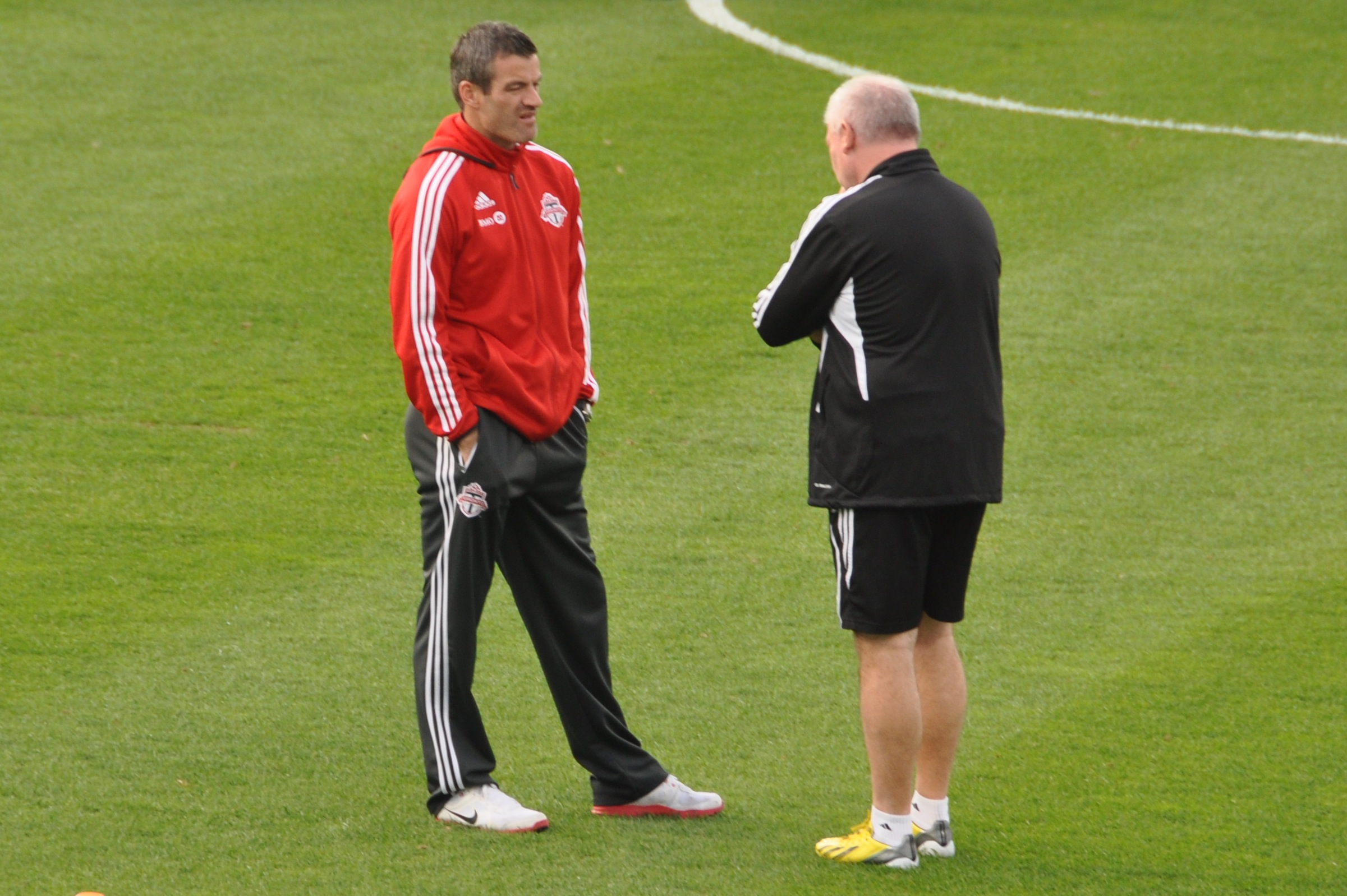 """ Ryan Nelson coaching Toronto FC 2013 "" BY  abdallahh  IS LICENSED UNDER  CC BY 2.0 ."