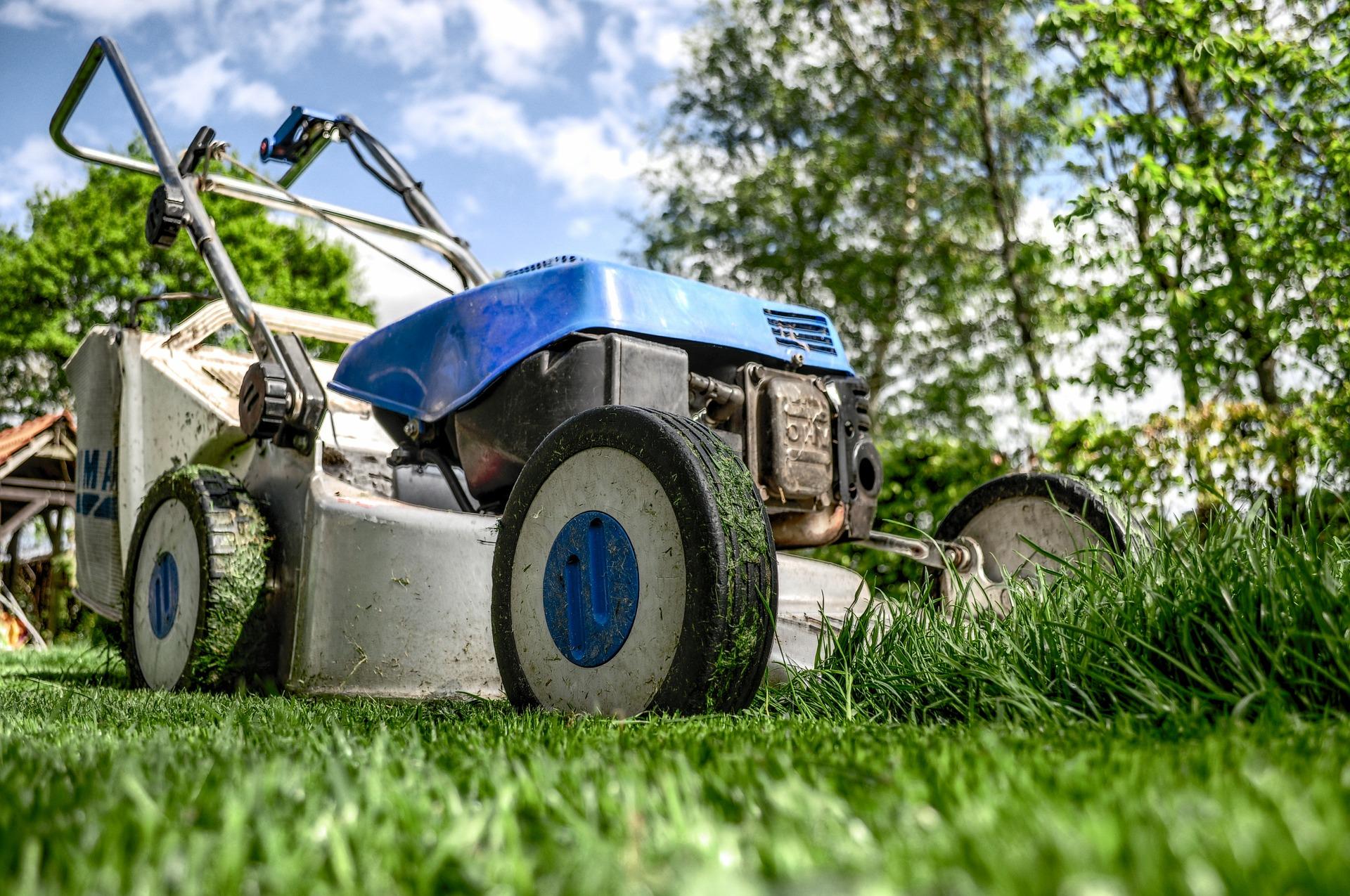 """"""" Lawnmower """" by  Skitterphoto  is  public domain ."""