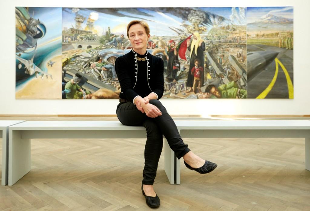 """Krigsværket """"Batalje"""" blev født ind i en voldsom debat, men det har bidraget til diskussionen om den danske krigsindsats, mener kunstneren. Lige nu kan det ses i Aalborg"""