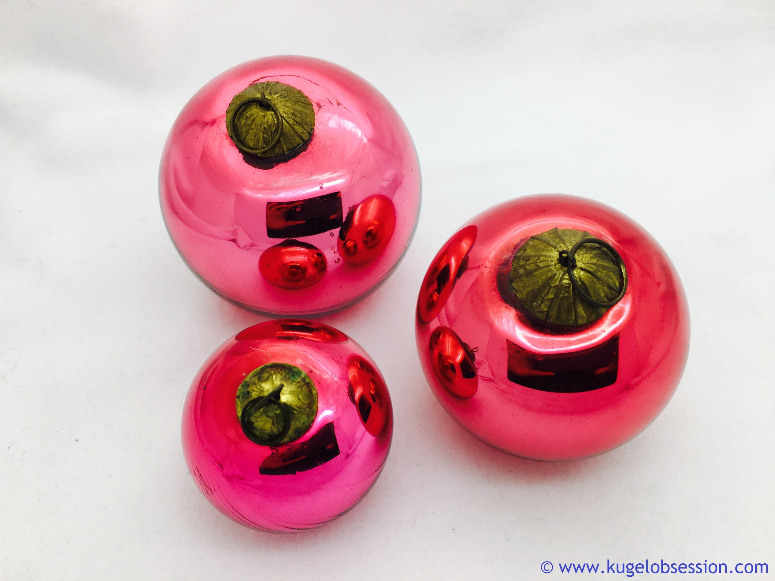 antique kugel christmas ornament for sale pink rounds 201709.jpg