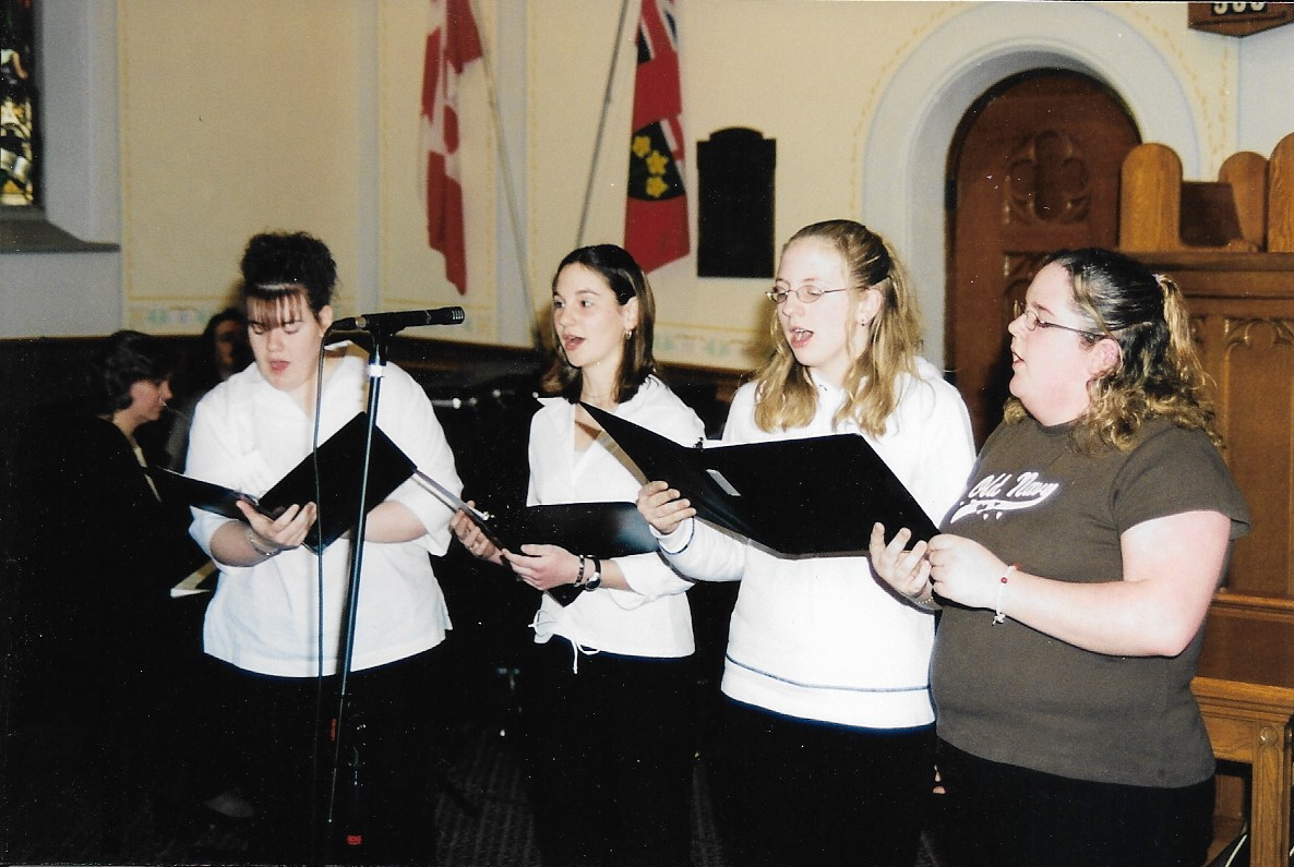 Crosstones 2004 L-R:  Heather Johnston, Alicia Lockie, Lauren Johns, Nicole Kaufman