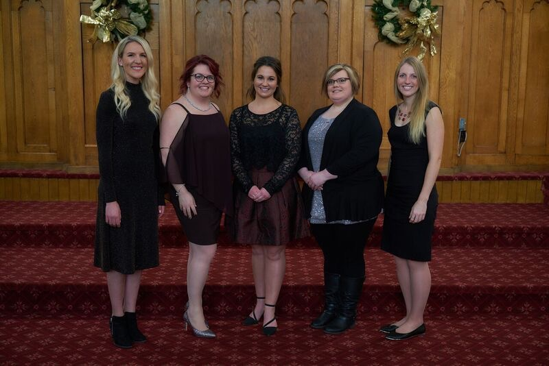 Crosstones December 2018 L-R:  Karli Purcell, Nicole Kaufman, Alicia Lockie, Heather Dafoe (Johnston), Lauren Johns