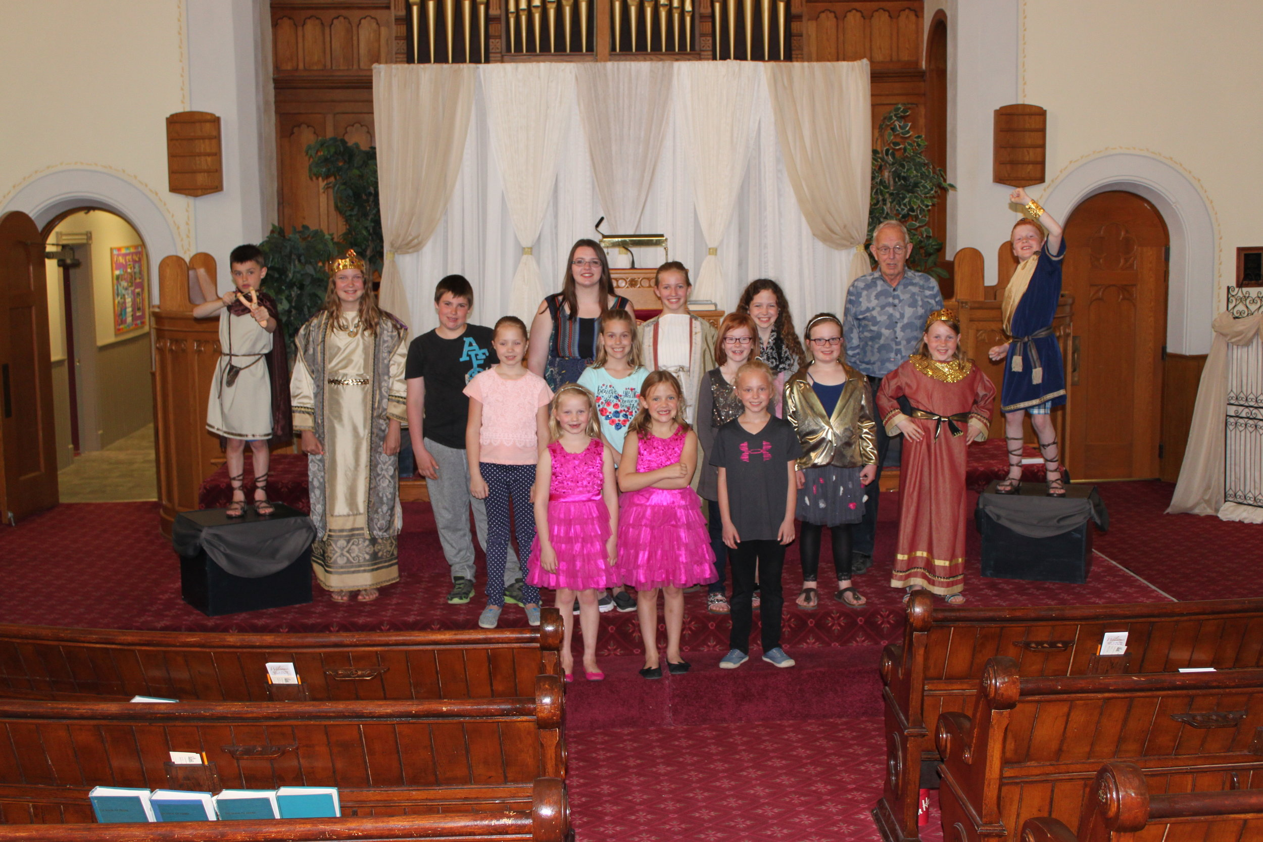 The Kingdom Connection (May 15, 2016) Back L-R:  Karch Fletcher, Brynn Ament, Devin Johston, Lexi Johnston, Emily Royce, Camryn McCutcheon, George Sjaarda, Ben Robinson  Middle row:  Calla Weber, Keira Schaefer, Hadleigh Martin, Natalie Robinson, Olivia Hughes  Front row:  Thea Weber, Claire McCutcheon, Mila Campbell