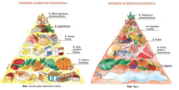 Comparação da dieta Tradicional com a Paleolítica.