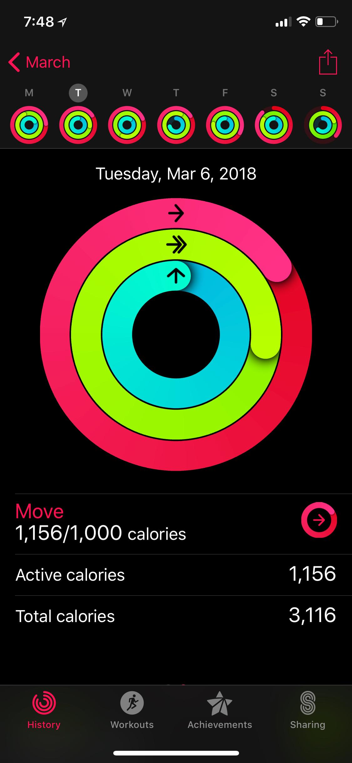 Pelo aplicativo do Apple Watch você pode fazer a conta que ensinei acima.