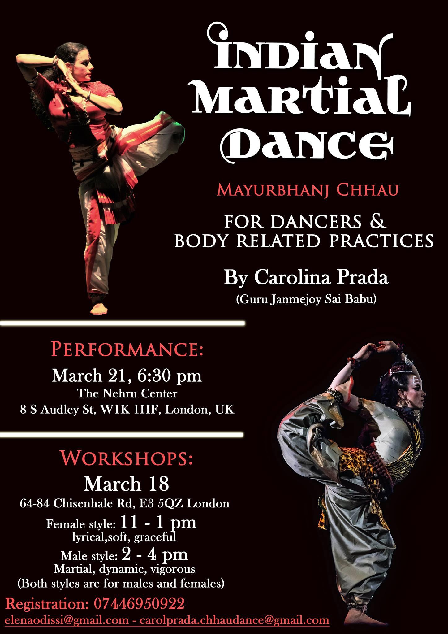 elena odissi - Indian Martial Dance Workshop