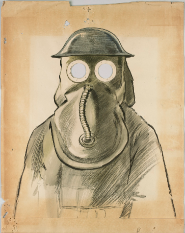 Gas Mask by S.G. Wells, 1918 from  Trove