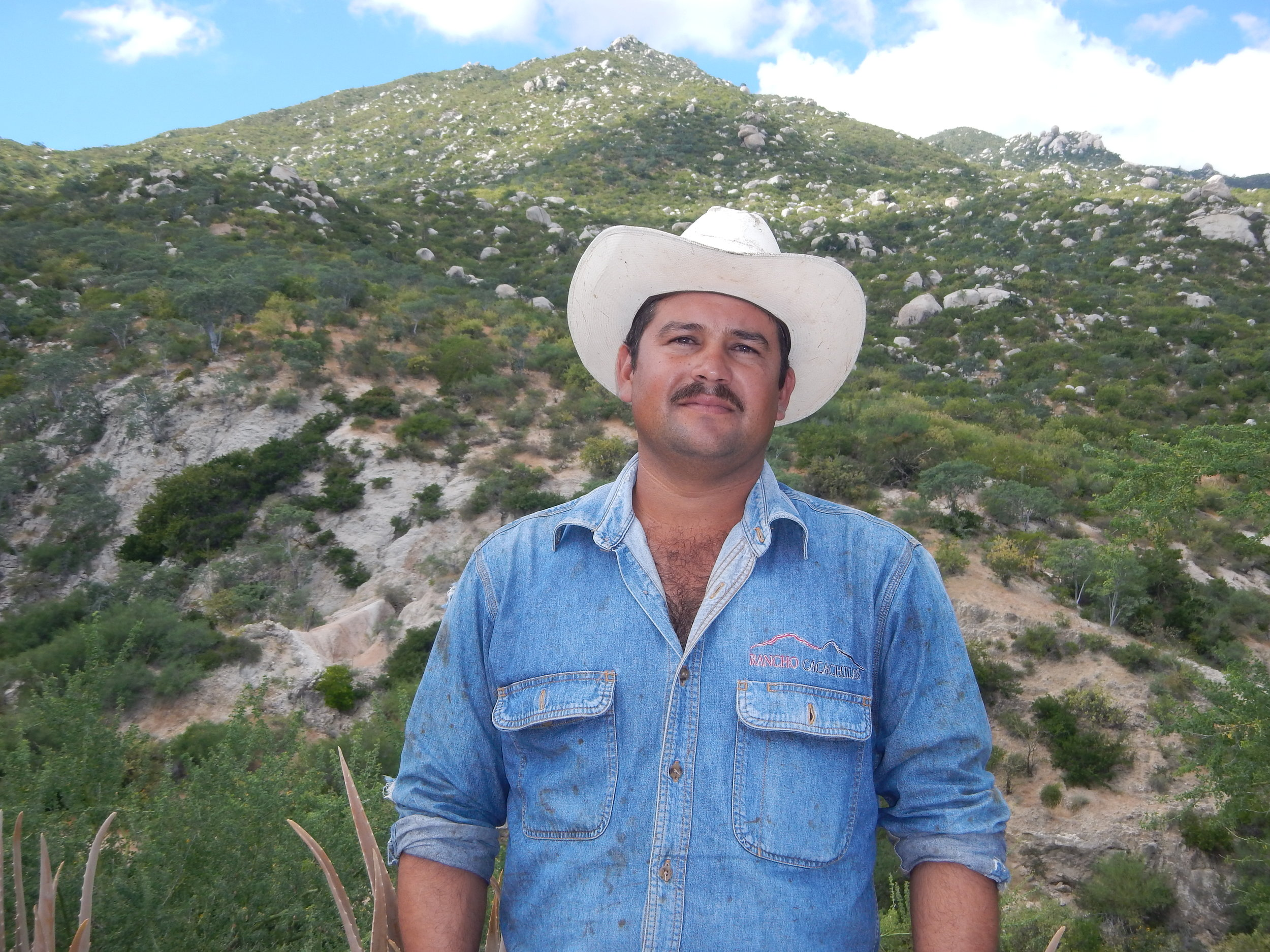 Israel Aviles Meza   Israel is the vaquero in charge of the cattle, from breeding, births, and culling selection. He also takes care of the grazing program, carefully moving with his team the cattle around the different paddocks to create the desired animal impact.