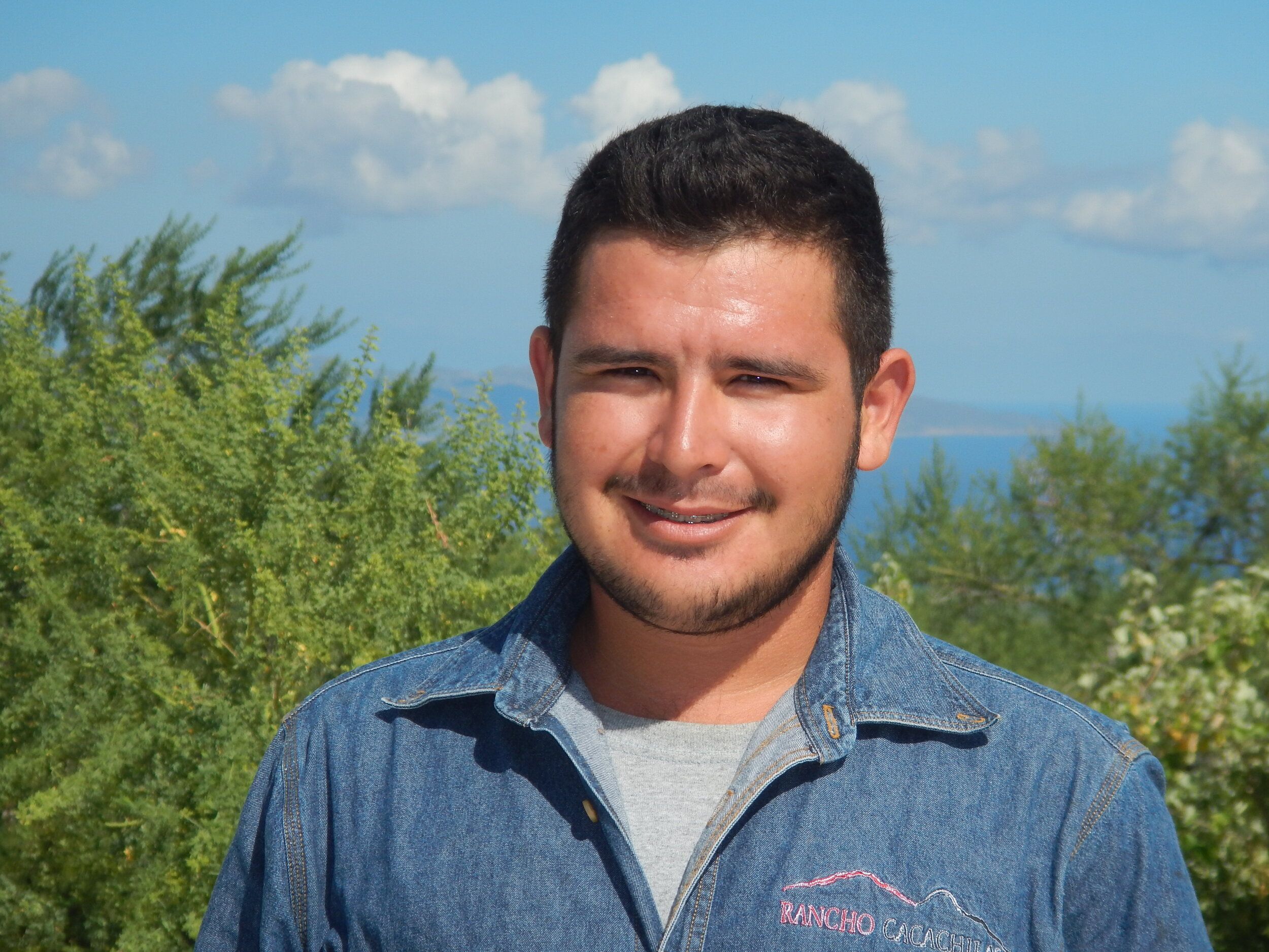 Jorge Lucero   Jorge is a skilled member of the Trail Building team but he also has a talent for helping in the kitchen under the supervision of hospitality team.