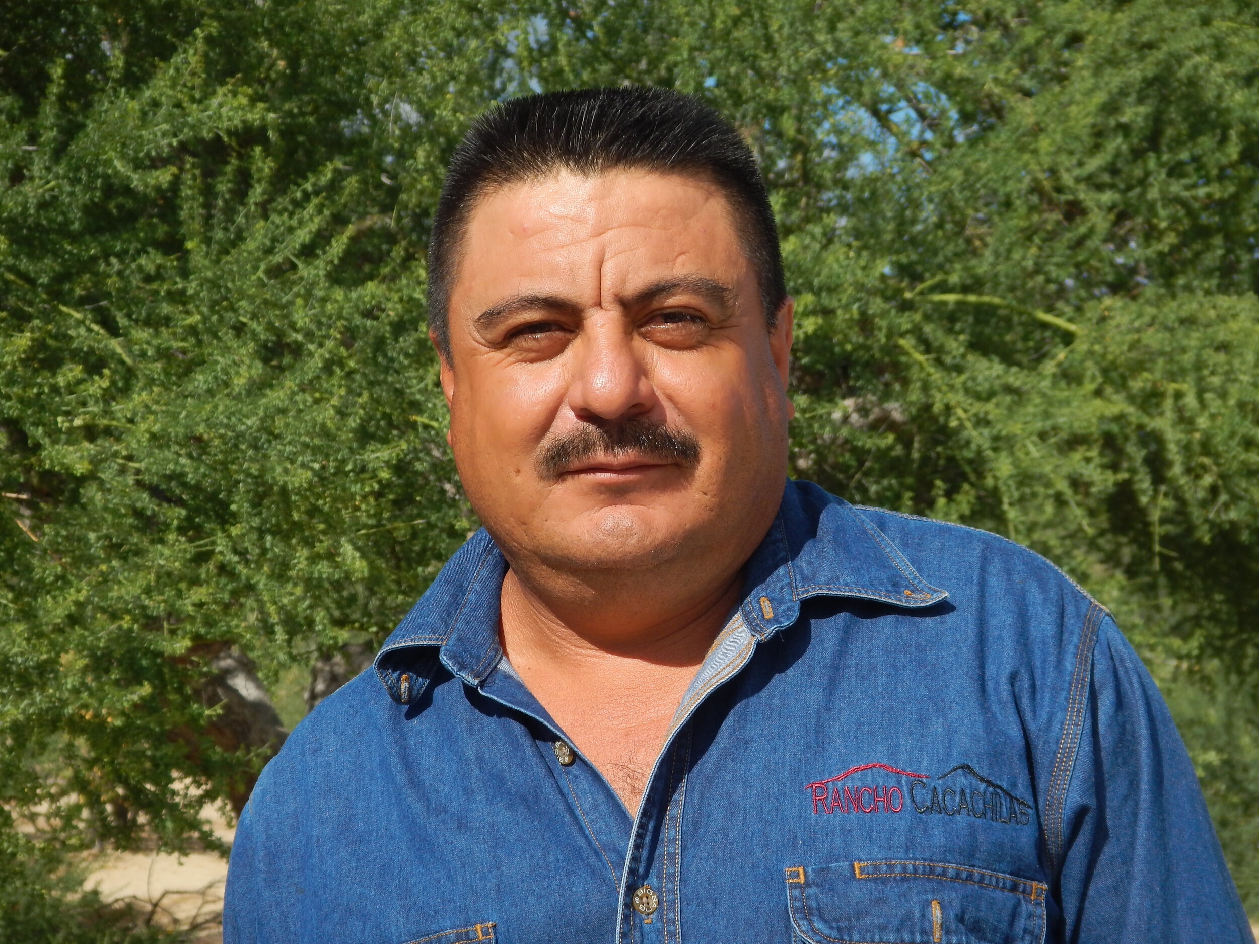 Joaquin Geraldo - Foreman   Joaquin Geraldo was a pioneer of the ranch since the beginning of the project, now he is the Foreman of the ranch. He is responsible for the overall operations and his specialized knowledge and experience at the ranch insures fluid operations. He is able to lead projects between diverse departments.