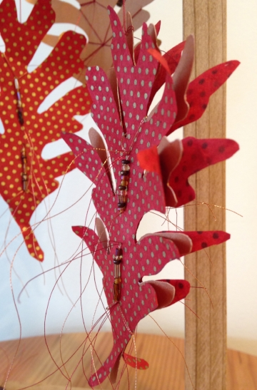 Oak Reinvented: Paper Becomes Tree Red I, detail  (Private Collection)