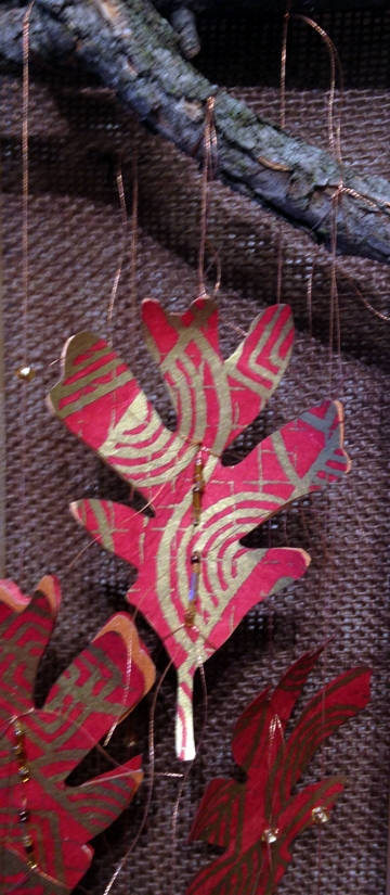 Oak Reinvented: Paper Becomes Tree Red II, detail  (Private Collection)