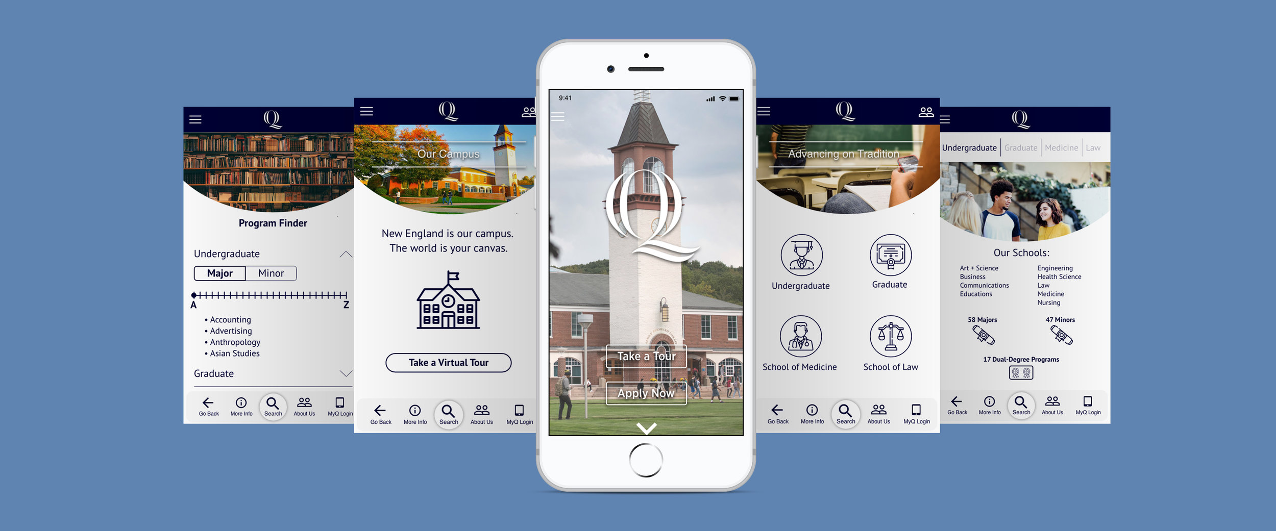 Quinnipiac Mobile App Design - Full Project