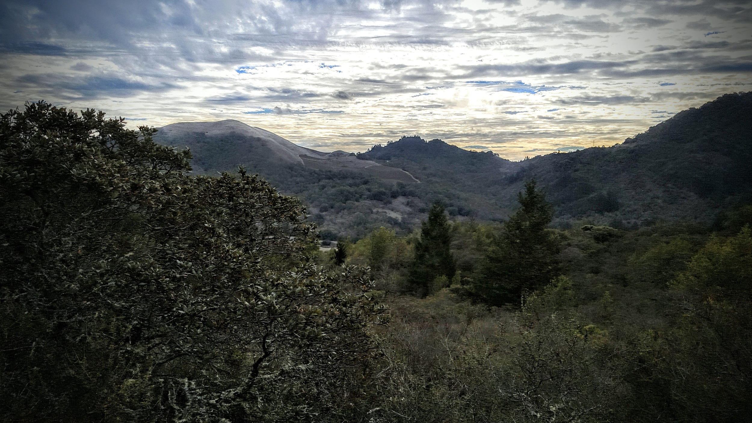View from upper, lower bald mountain trail