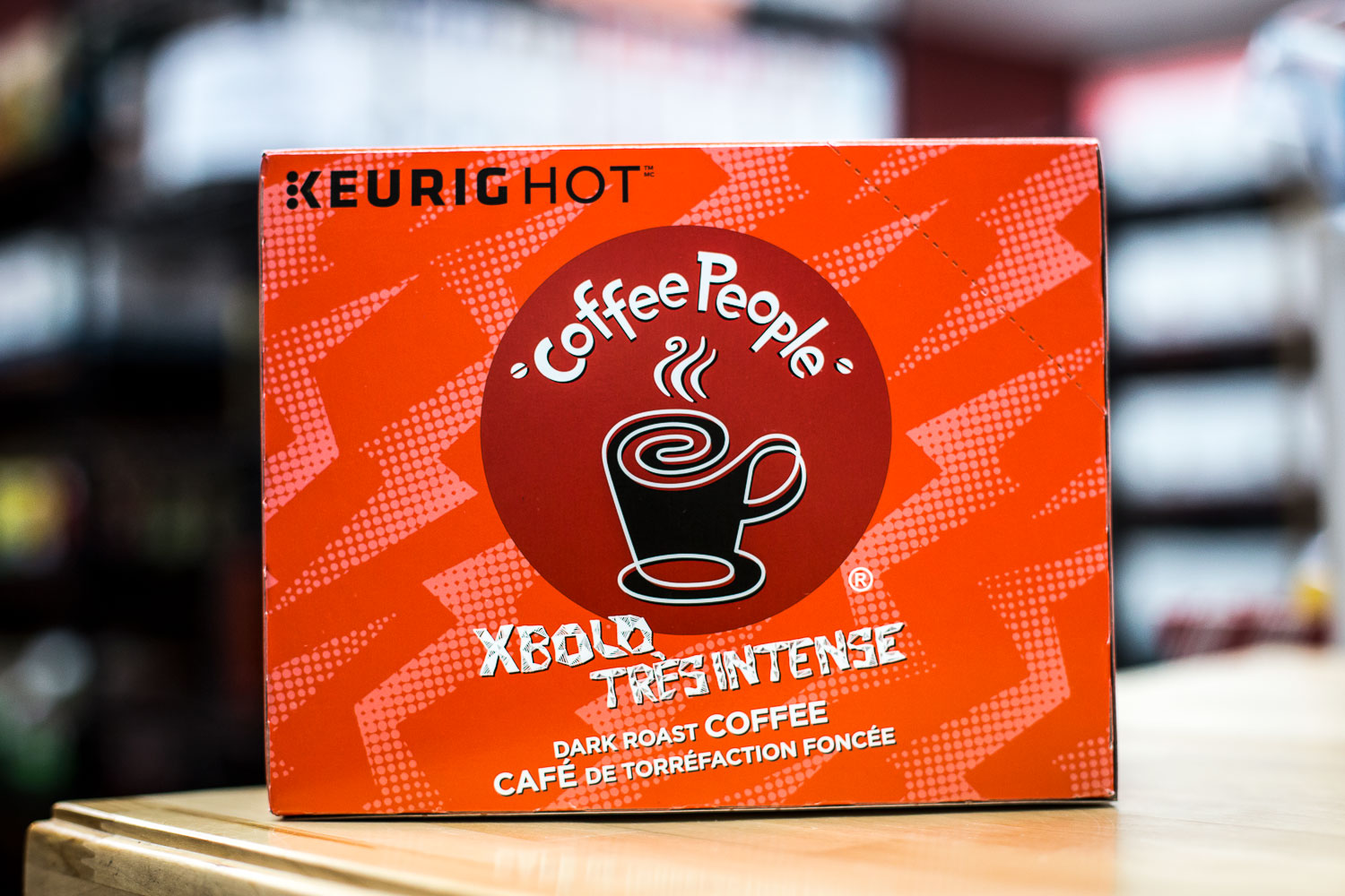 Extra bold and rich, this dark roast from Coffee People will really get your engine running.