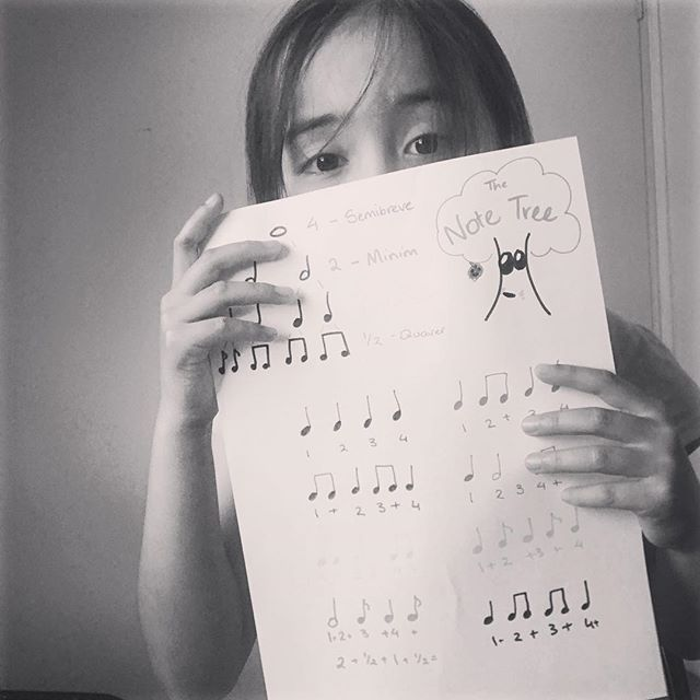 Lily shows us her amazing Note Tree and Rhythm exercises!