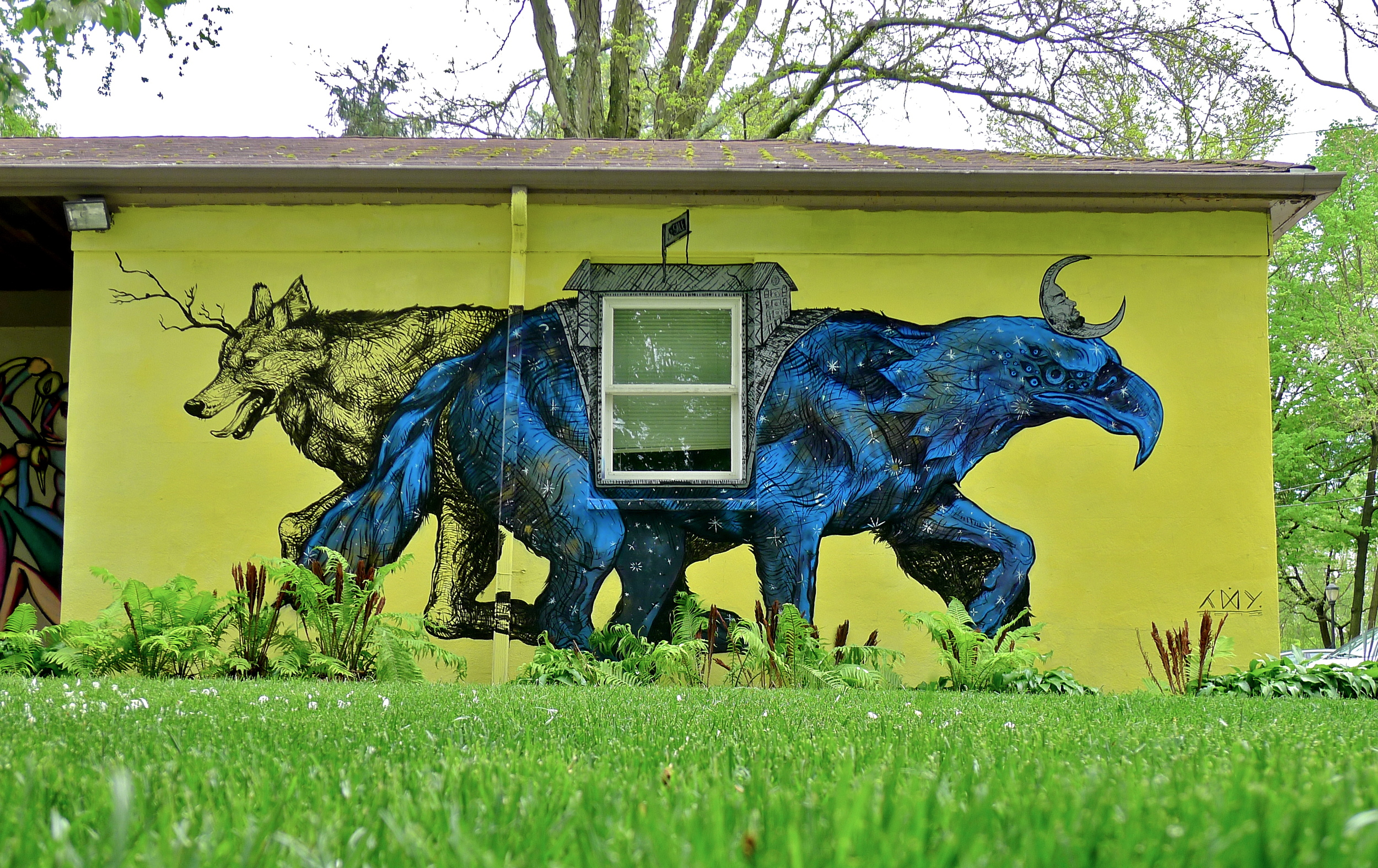 Apex Predator  by Layqa Nuna Yawar at  Haverford College . Haverford, PA. 2013. (curator/project manager)