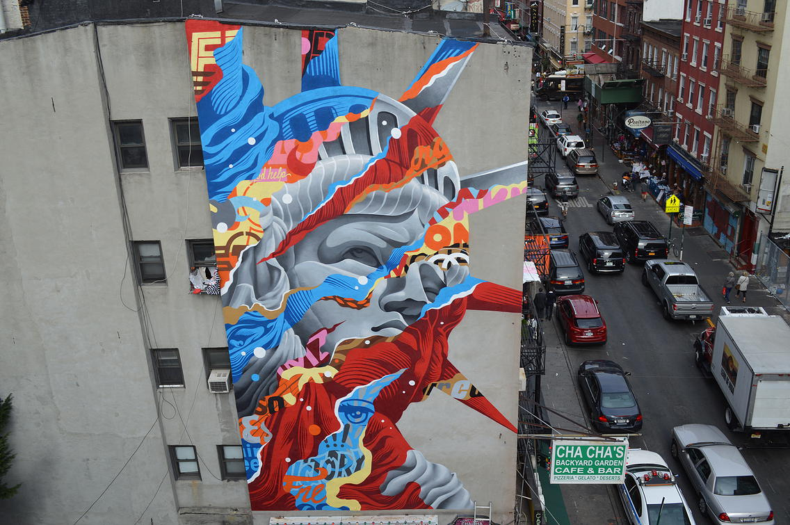 Liberty  by Tristan Eaton for  The L.I.S.A. Project NYC . New York, NY. 2013. Photo by Rey Rosa. (curator)