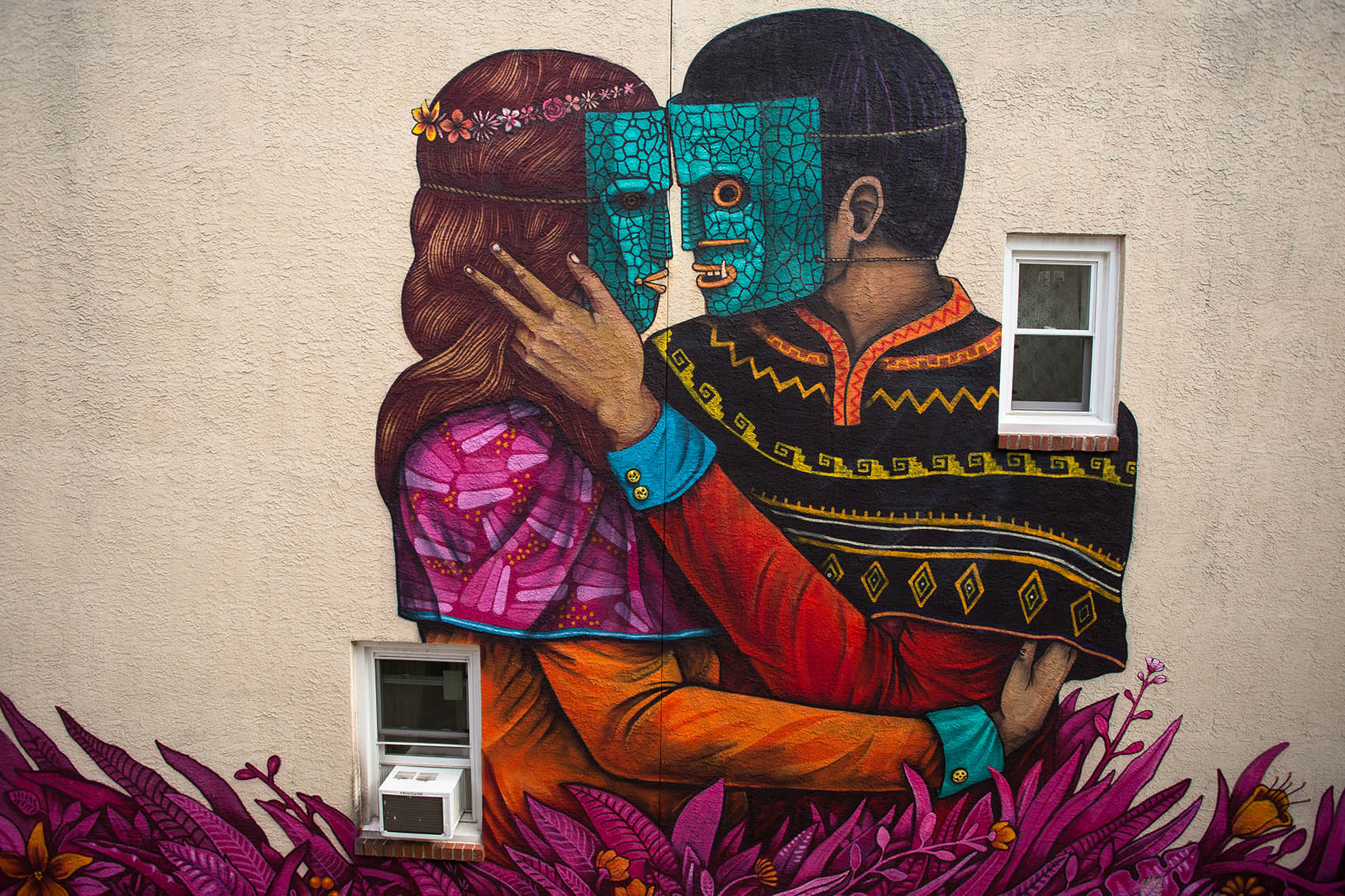 Philos and Adelphos  by Saner for  Mural Arts Philadelphia . Philadelphia, PA. 2015. Photo by Steve Weinik. (project manager)