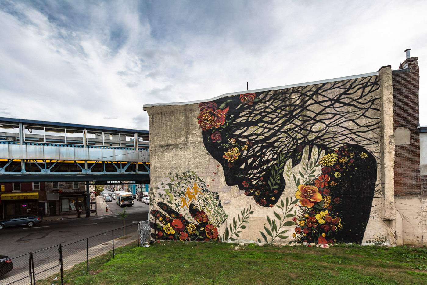 A Daughter Migrates Towards the Mother Earth  by Jess X Snow for the   We the People   series with  Mural Arts Philadelphia . Philadelphia, PA. 2017. Photo by Steve Weinik. (curator)