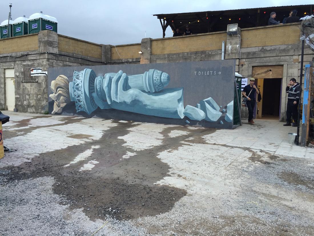 Escif at Banksy's  Dismaland