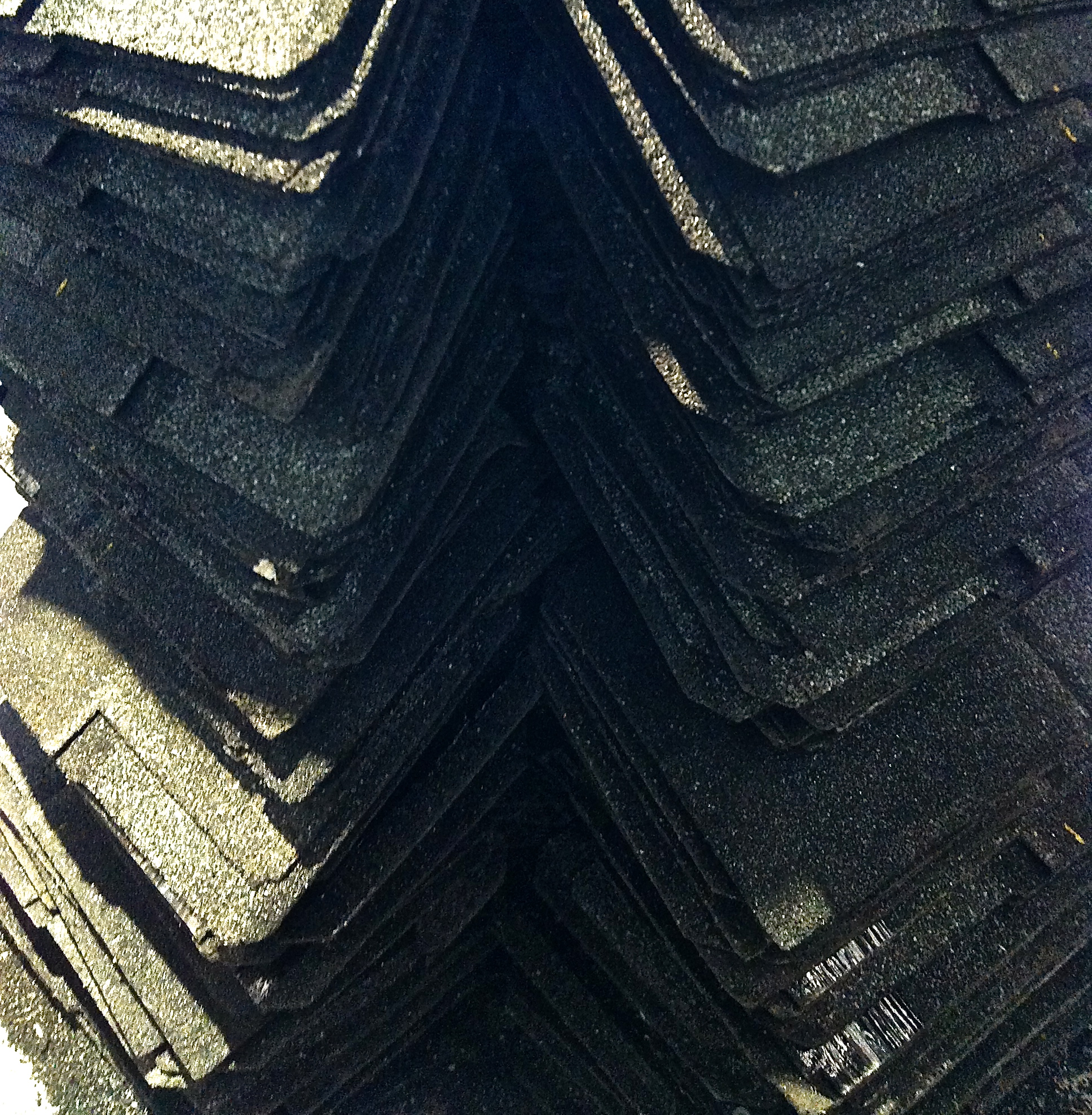 Untitled,   DETAIL   2014    Roofing Shingles   Dimensions Variable