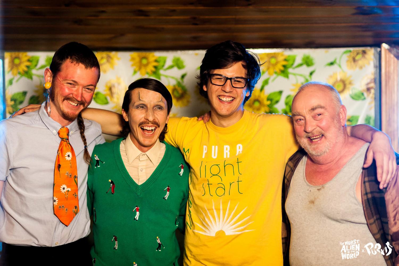 Liam Sommerville, Sam Dugmore, Anthony Frith, Adrian Barnes. Photo © Daniel Purvis
