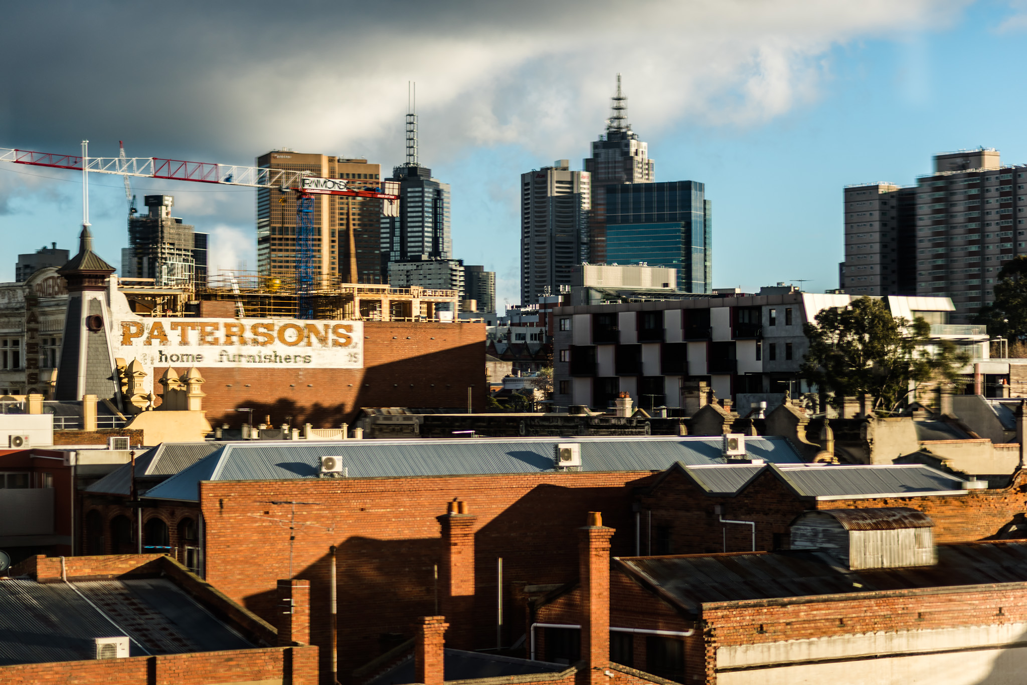 View from the apartment warped by the heater. Melbourne © Daniel Purvis 2016