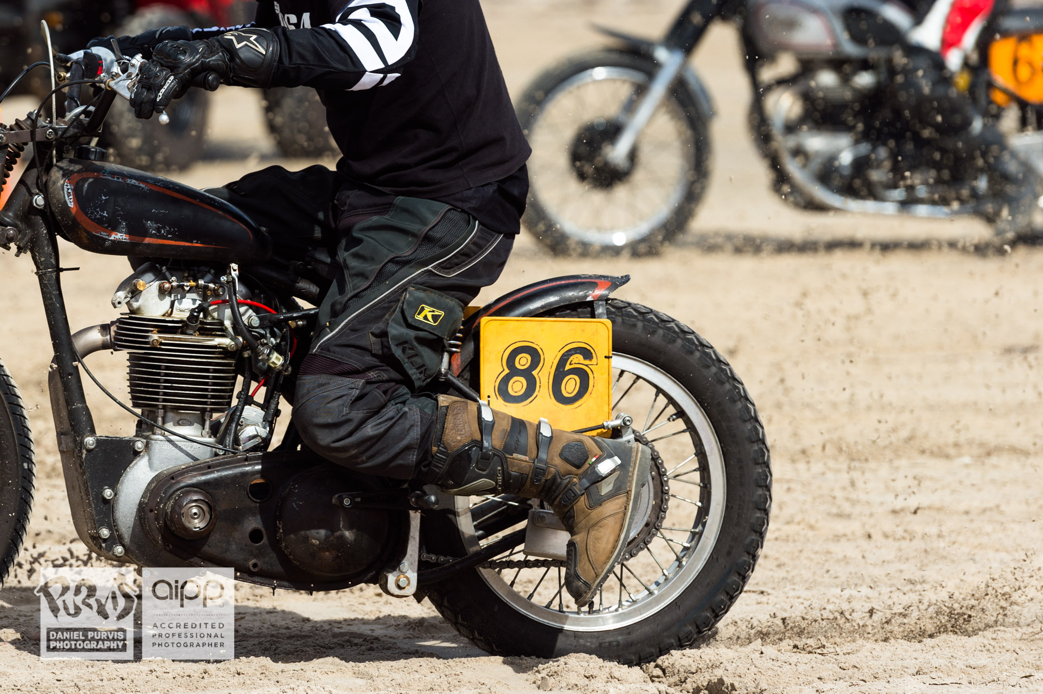 (86) Nicholas Umek kicks off Group G on a 1946 BSA B33 with a B31 head then some. © Daniel Purvis