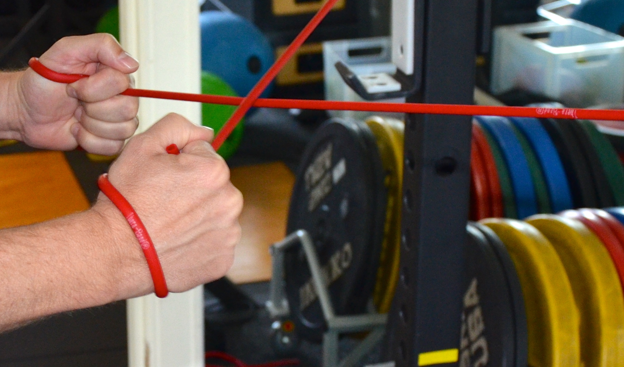 most places can be adequate to do some of the preventive & rehab drills that we prescribe, given their portability. for instance, resistance-bands.